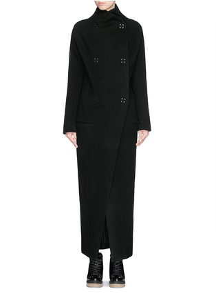 Main View - Click To Enlarge - Acne Studios - 'Alby' double breasted boiled wool coat