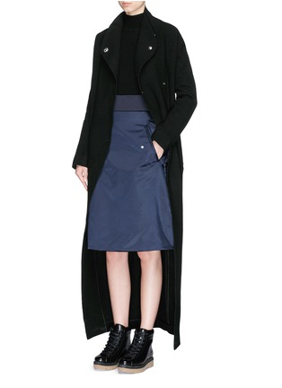 Figure View - Click To Enlarge - Acne Studios - 'Alby' double breasted boiled wool coat