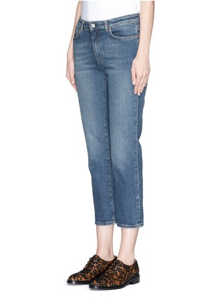 Front View - Click To Enlarge - Acne Studios - 'Row' vintage wash boyfriend jeans