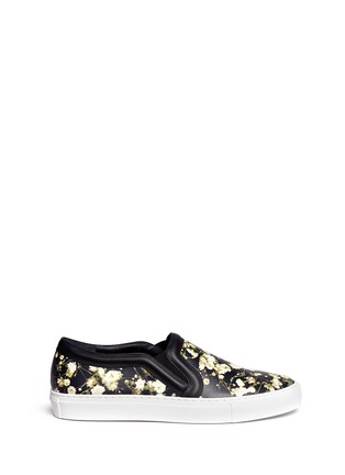Main View - Click To Enlarge - Givenchy - Baby's breath floral print leather skate slip-ons
