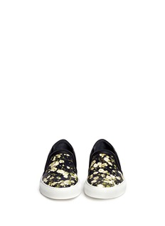 GIVENCHYBaby's breath floral print leather skate slip-ons