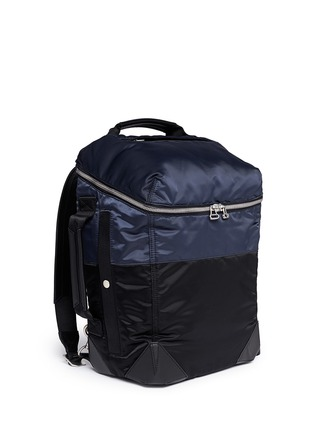 Front View - Click To Enlarge - Alexander Wang  - 'Wallie' padded bomber nylon backpack