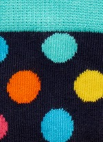 Big dot and half stripe colourblock kids socks 2-pair pack