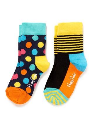 首图 - 点击放大 - HAPPY SOCKS - 波点条纹撞色儿童袜套装