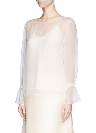 Front View - Click To Enlarge - The Row - 'Vivian' bell sleeve chiffon blouse