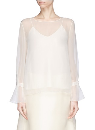 Main View - Click To Enlarge - The Row - 'Vivian' bell sleeve chiffon blouse