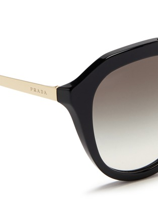 Detail View - Click To Enlarge - Prada - Wire double bridge acetate sunglasses