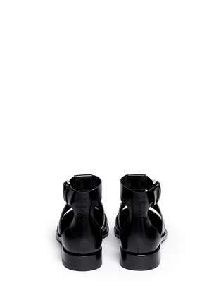 Back View - Click To Enlarge - Alexander Wang  - 'Lyoka' perforated leather sandals