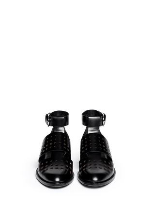 Figure View - Click To Enlarge - Alexander Wang  - 'Lyoka' perforated leather sandals