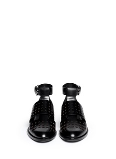 ALEXANDER WANG  'Lyoka' perforated leather sandals