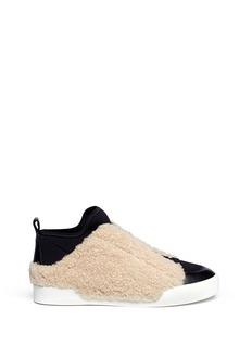 3.1 PHILLIP LIM'Morgan' shearling trim sneakers