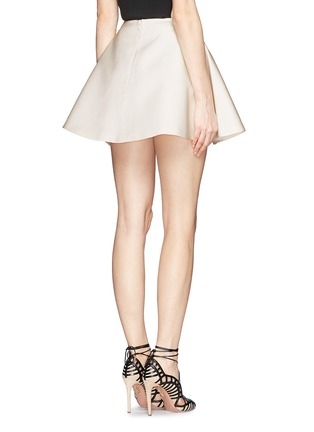 Back View - Click To Enlarge - Chictopia - Silk-cotton flare skirt