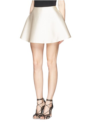 Front View - Click To Enlarge - Chictopia - Silk-cotton flare skirt