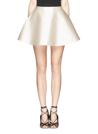 Main View - Click To Enlarge - Chictopia - Silk-cotton flare skirt