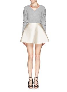 CHICTOPIASilk-cotton flare skirt
