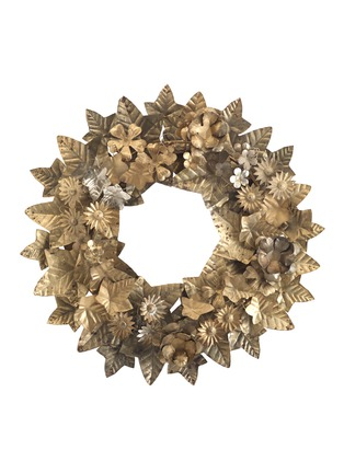 Main View - Click To Enlarge - Shishi As - Floral metal wreath