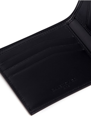 Detail View - Click To Enlarge - Balenciaga - Embossed grid leather bifold wallet