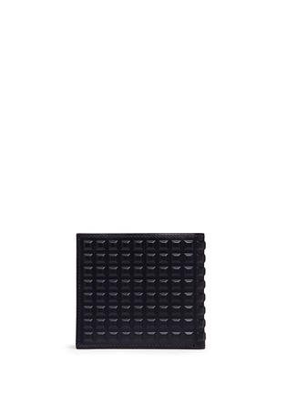 Back View - Click To Enlarge - Balenciaga - Embossed grid leather bifold wallet