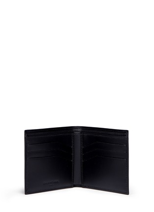 Figure View - Click To Enlarge - Balenciaga - Embossed grid leather bifold wallet