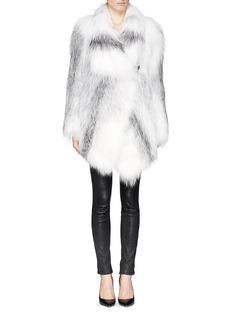 YVES SALOMONBuckle strap fox fur coat