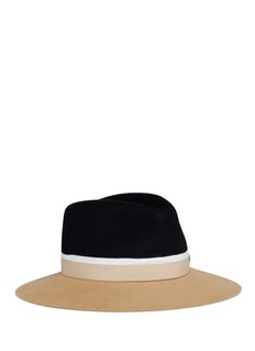 Maison Michel 'Henrietta' colourblock rabbit furfelt fedora hat
