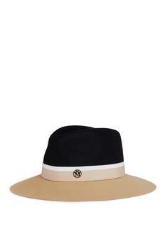 Maison Michel'Henrietta' colourblock rabbit furfelt fedora hat