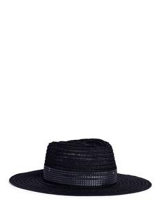 Maison Michel'Charles' ribbed hemp straw fedora hat