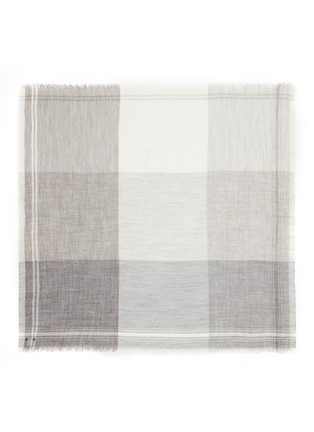 Main View - Click To Enlarge - Faliero Sarti - 'Incky' check plaid alpaca-silk scarf