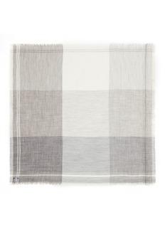 Faliero Sarti'Incky' check plaid alpaca-silk scarf