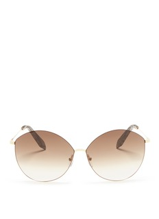 Victoria Beckham 'Feather Kitten' rounded cat eye metal sunglasses
