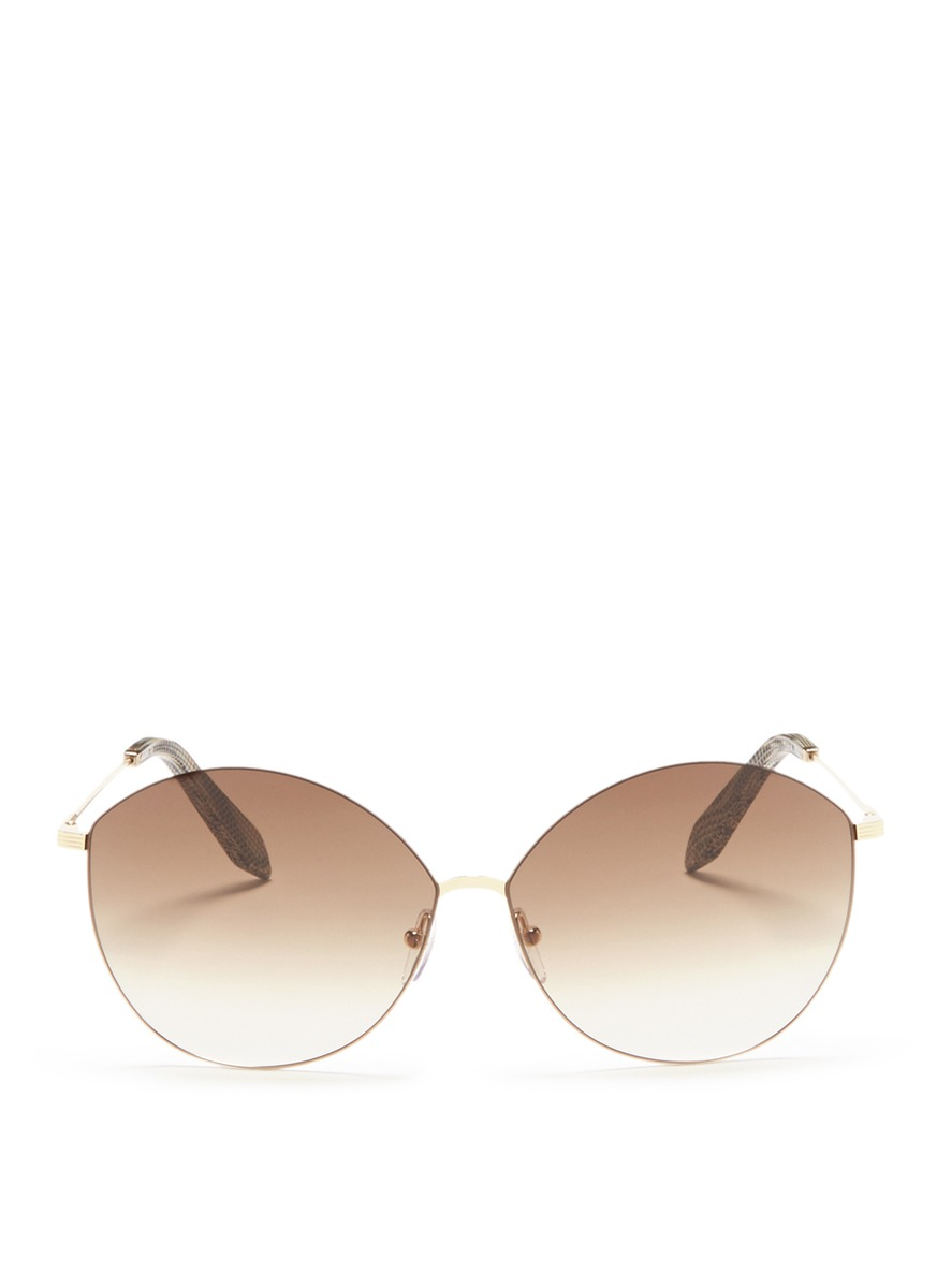 Feather Kitten rounded cat eye metal sunglasses by Victoria Beckham