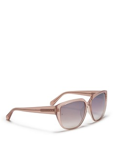 LINDA FARROW Oversized angular sunglasses