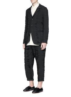 Uma Wang 'Alfio' stripe patchwork soft blazer