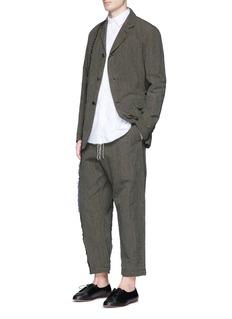 Uma Wang 'Simba' stripe linen-cotton soft blazer