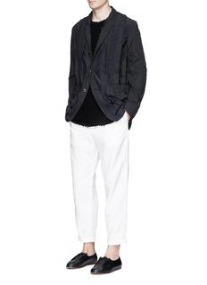 Uma Wang 'Din' raw trim soft blazer
