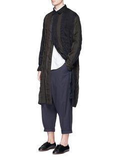 Uma Wang 'Adolfo' stripe patchwork coat