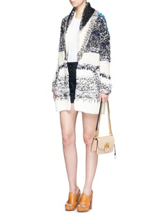 Chloé Oversized mixed chunky knit cardigan