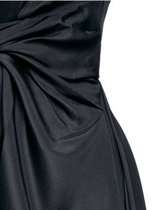 Detail View - Click To Enlarge - Roksanda - 'Thurloe' draped sash bodice crepe jumpsuit