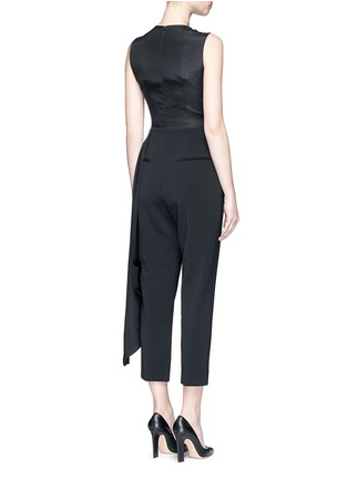 Back View - Click To Enlarge - Roksanda - 'Thurloe' draped sash bodice crepe jumpsuit