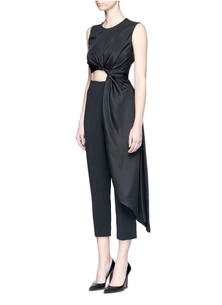 Front View - Click To Enlarge - Roksanda - 'Thurloe' draped sash bodice crepe jumpsuit
