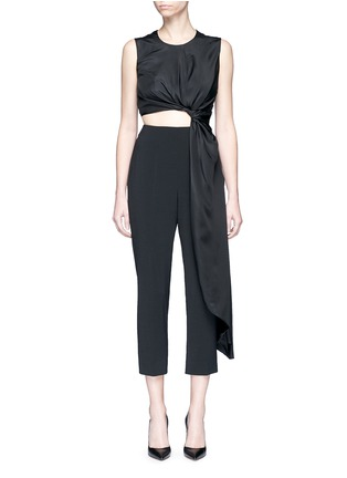 Main View - Click To Enlarge - Roksanda - 'Thurloe' draped sash bodice crepe jumpsuit