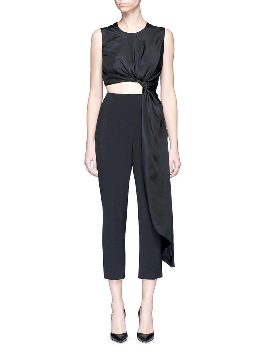Thurloe draped sash bodice crepe jumpsuit by Roksanda