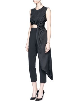 Figure View - Click To Enlarge - Roksanda - 'Thurloe' draped sash bodice crepe jumpsuit