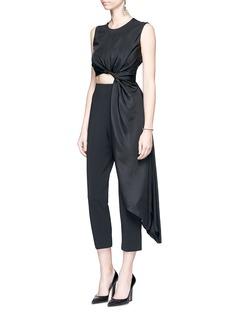 Roksanda'Thurloe' draped sash bodice crepe jumpsuit
