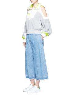 SACAI拼接设计挖肩纯棉针织上衣