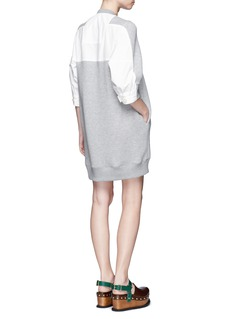 Sacai Poplin panel double faced jersey dress