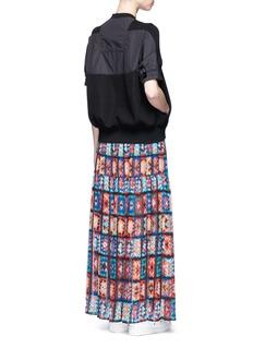 SacaiFloral print chiffon maxi skirt