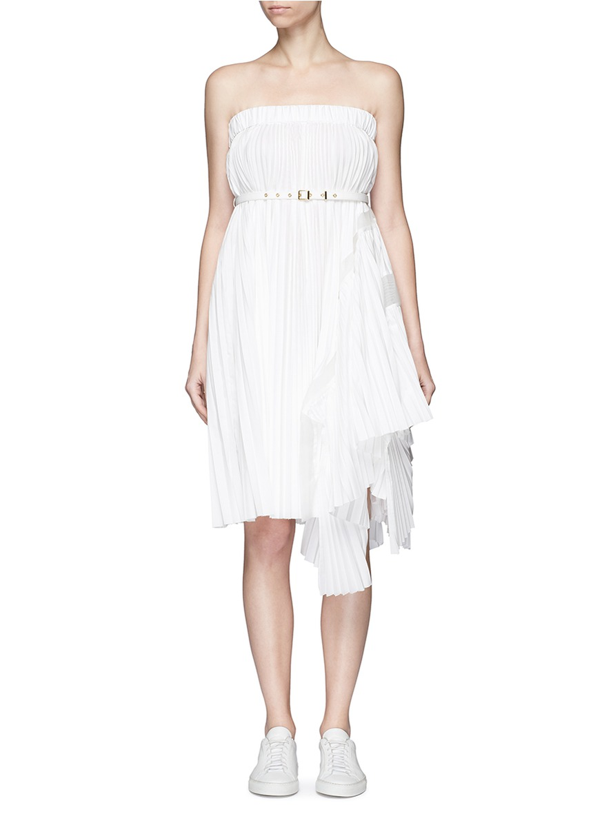 Buy Pleated tube dress by Sacai womens clothes online