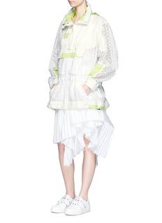 SacaiParka collar eyelet lace blouson jacket