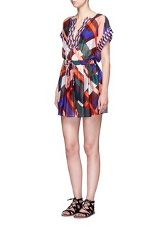 Emilio Pucci 'Parioli' geometric print drawstring waist silk dress
